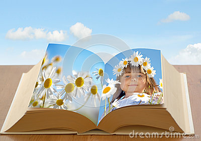 Daisy chain girl in book