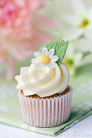 Free Daisy Cupcake Royalty Free Stock Photos - 13381508