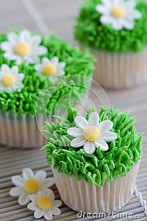 Free Daisy Cupcakes Royalty Free Stock Photos - 12591308