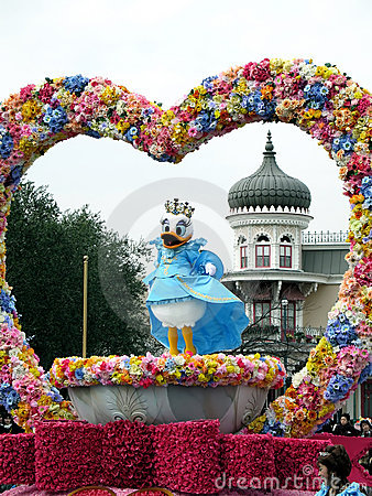 Daisy Duck in Disneyland, (Tokyo, Japan) Editorial Stock Photo