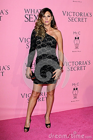 Daisy Fuentes arrives at the Victoria s Secret What Is Sexy? Party Editorial Photography