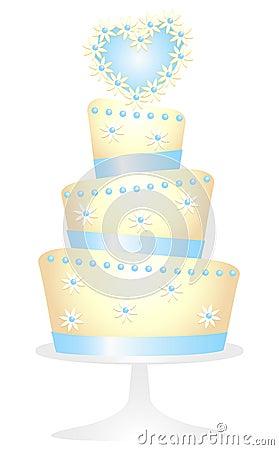 Daisy Heart Cake