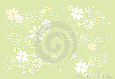 Daisy Pattern Royalty Free Stock Image - Image: 1895286
