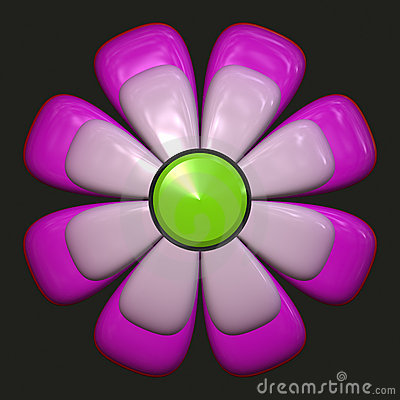 Daisy with purple petals