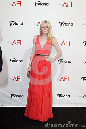 Dakota Fanning arriving at the AFI Life Achievement Award Honoring Shirley MacLaine Editorial Image