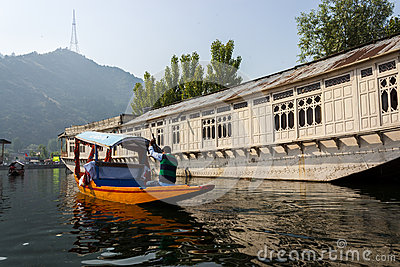 Dal lake, Srinagar, Jammu and Kashmir tourism Editorial Stock Photo