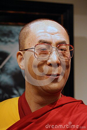 Dalaï-lama wax figure Editorial Stock Image