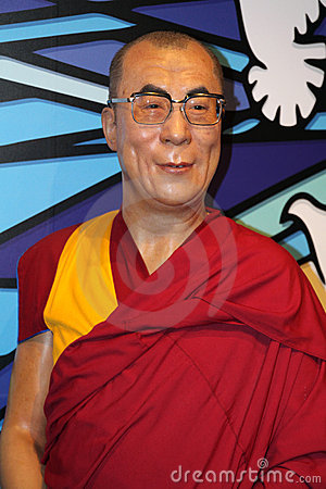 The Dalai Lama at Madame Tussaud s Editorial Photo