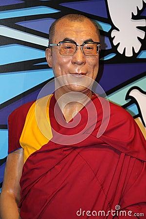 The Dalai Lama at Madame Tussaud s Editorial Photo
