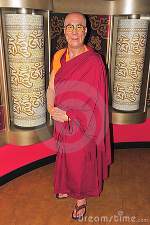 Dalai Lama at Madame Tussaud s Editorial Image