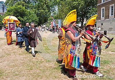 Dalai Lama s 75th birthday celebrations Editorial Photo