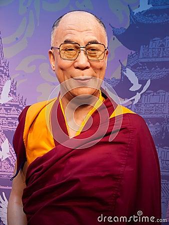 Free Dalai Lama Wax Statue Royalty Free Stock Photo - 28316445