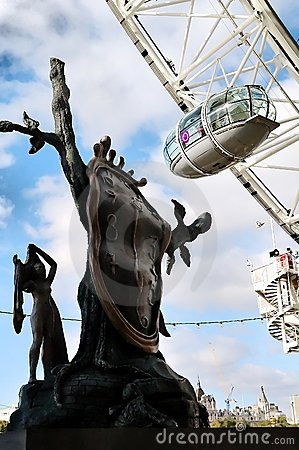 Dali and the London Eye Editorial Image