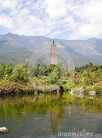 Dali Three Pagodas Reflection