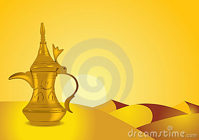 Dallah - the Traditional arabic coffee pot