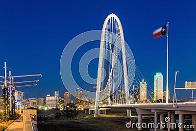 Dallas City skyline at twilight Editorial Stock Photo