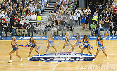 Dallas Mavericks cheerleaders Editorial Image