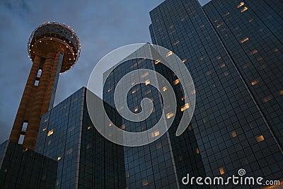 Dallas: Reunion Tower At Night