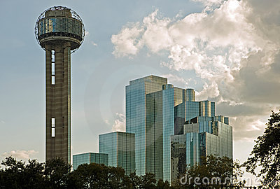 Dallas Reunion Tower and hotel