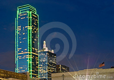 Dallas-Skyline nachts