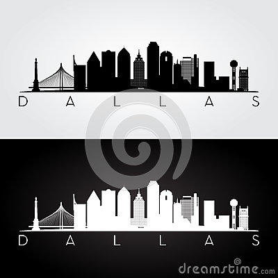dallas skyline silhouette cartoon vector cartoondealer com 77090613