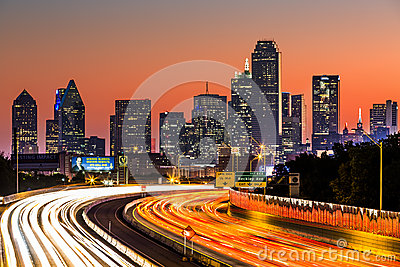 Dallas skyline at sunrise Editorial Image