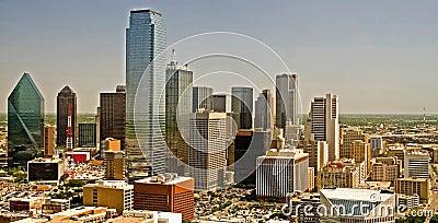 Dallas Texas skyline panorama