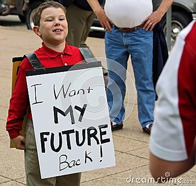 Dallas Texas Tea Party Editorial Image