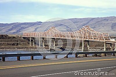The Dalles bridge, Oregon state.