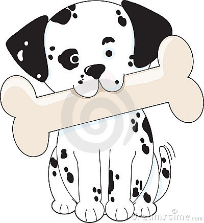 Dalmatian with Bone
