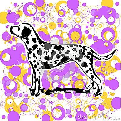 Dalmatian design vector