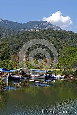Dalyan river (Turkey) - pleasure-boats