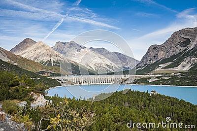 A dam in the alps