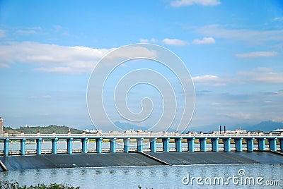 Dam and blue sky