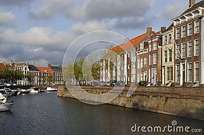 Dam canal cityscape, middelburg
