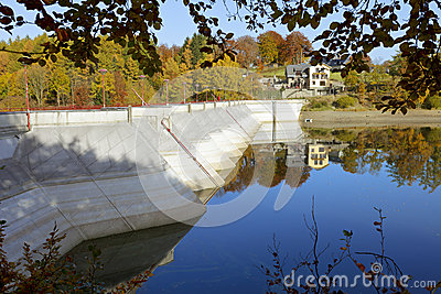 Dam on the lake