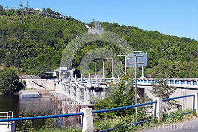 The dam on the river