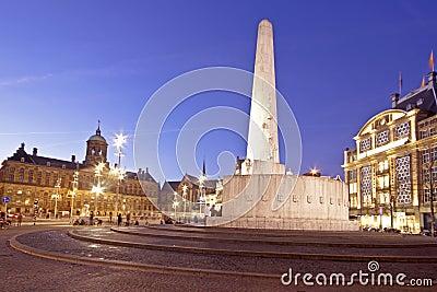 Dam Square in Amsterdam the Nethe