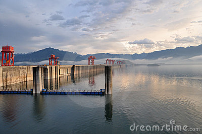 Dam at three gorges