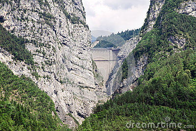 Dam Vaiont. Province Belluno, Italy.