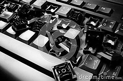 Damage keyboard
