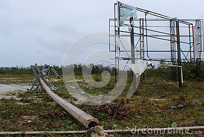 Damage in Mahahual Hurricane Ernesto Editorial Photo