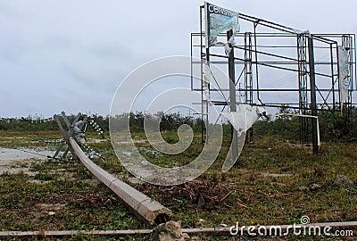 Damage in Mahahual Hurricane Ernesto Editorial Photo