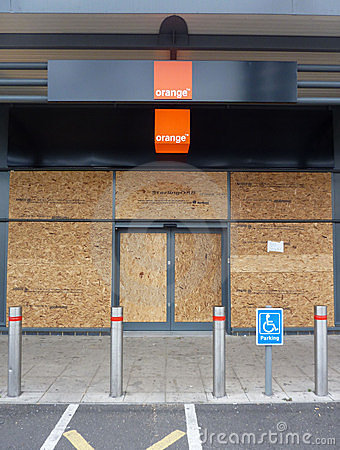 Damage To The Shops In Tottenham Hale Retail Park Editorial Photo
