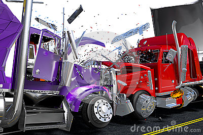 Damage two lorries