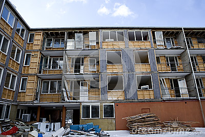Damaged apartment