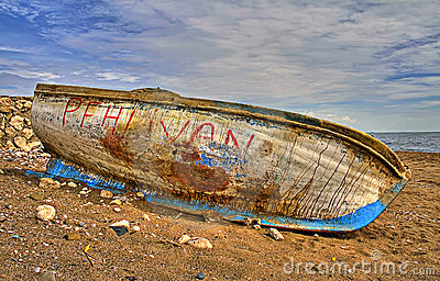 Damaged boat hdr