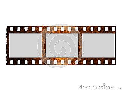 Damaged film strip