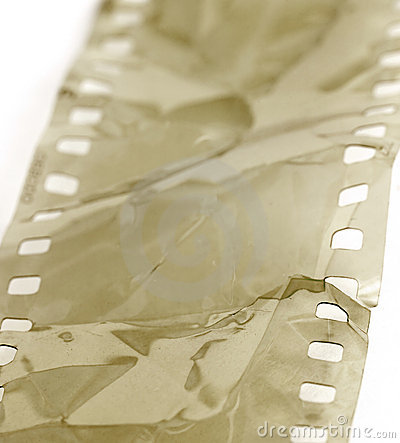 Damaged film strip