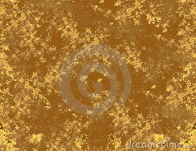 Damaged golden background